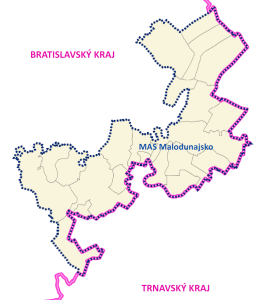 Mapa Malodunajsko